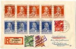 1370200: SBZ Handstempel versch. Bezirke