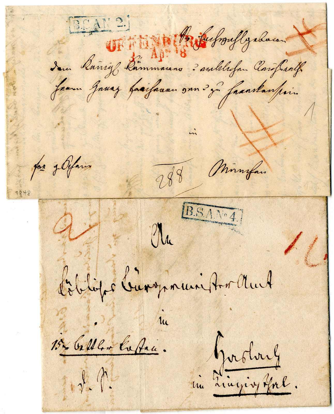 Lot 4 - Altdeutschland Baden, Vorphilatelie  -  Karl Pfankuch & Co. auction #222