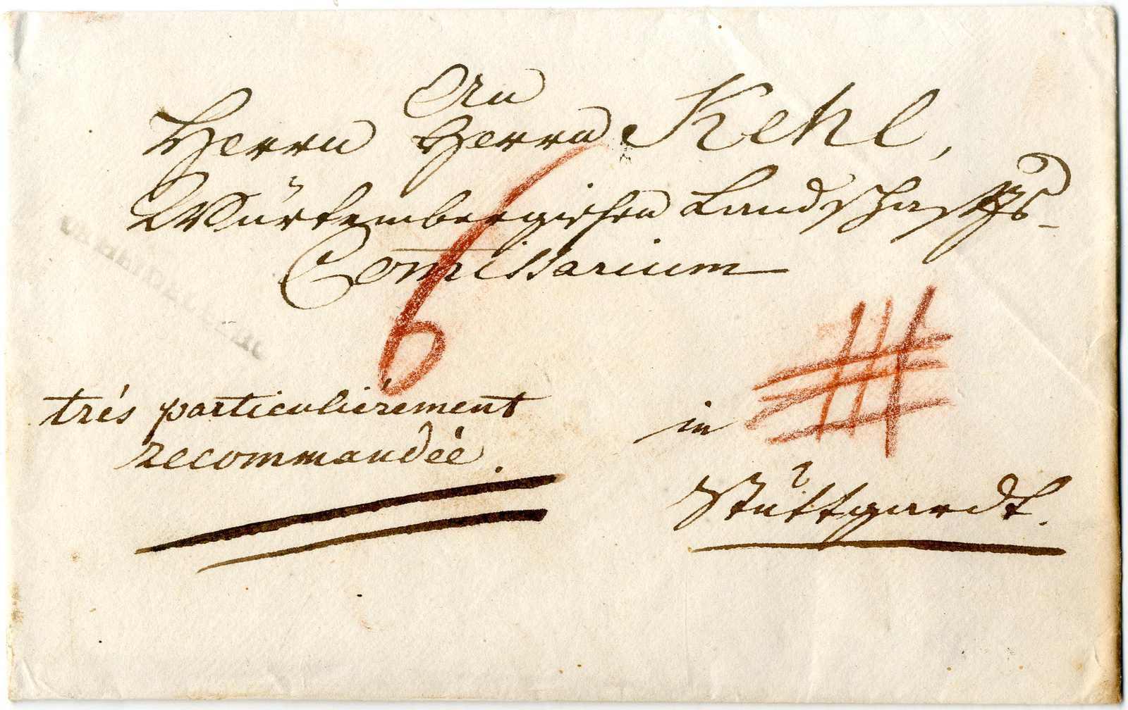 Lot 1 - Altdeutschland Baden, Vorphilatelie  -  Karl Pfankuch & Co. auction #222