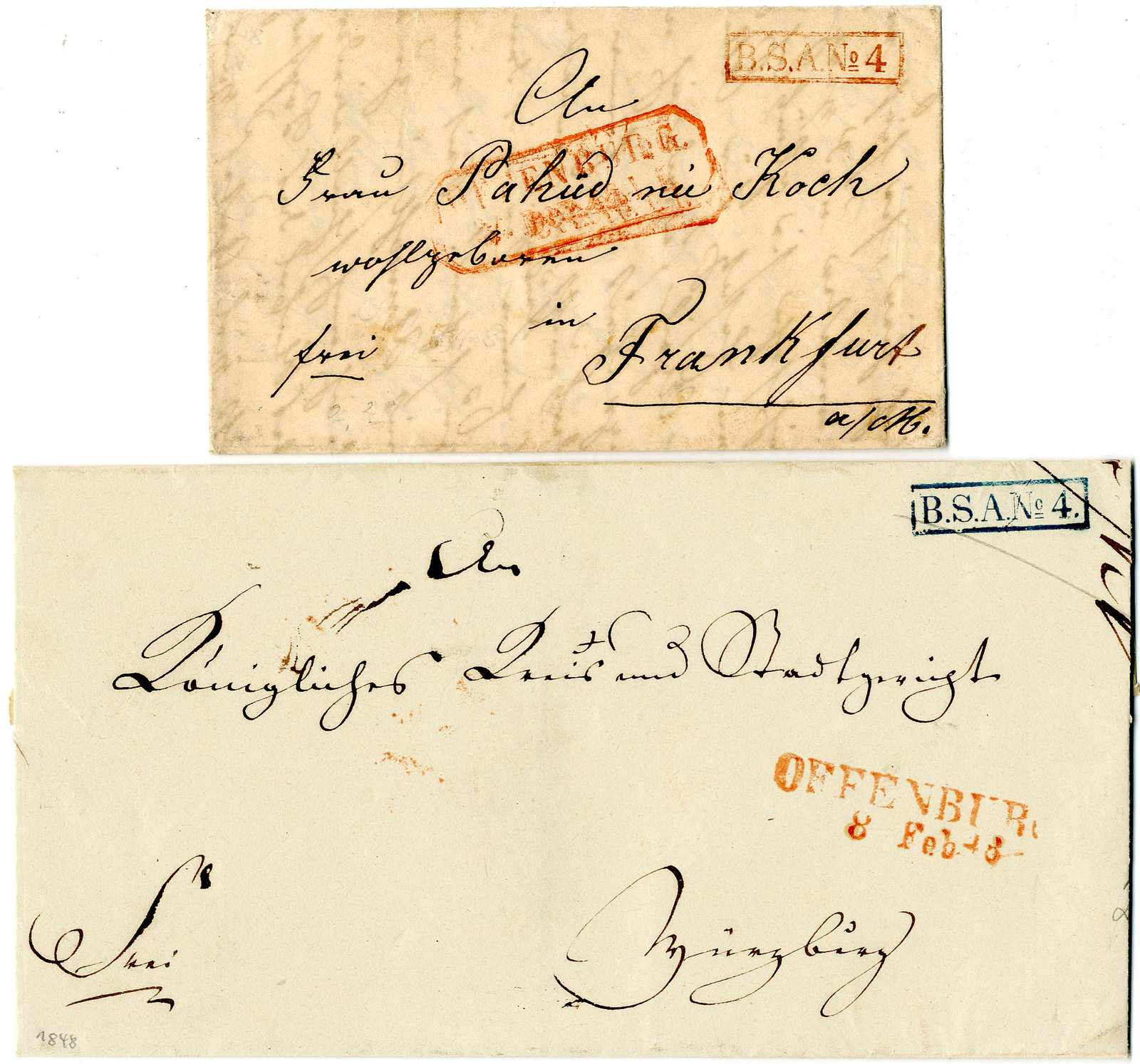 Lot 5 - Altdeutschland Baden, Vorphilatelie  -  Karl Pfankuch & Co. auction #222