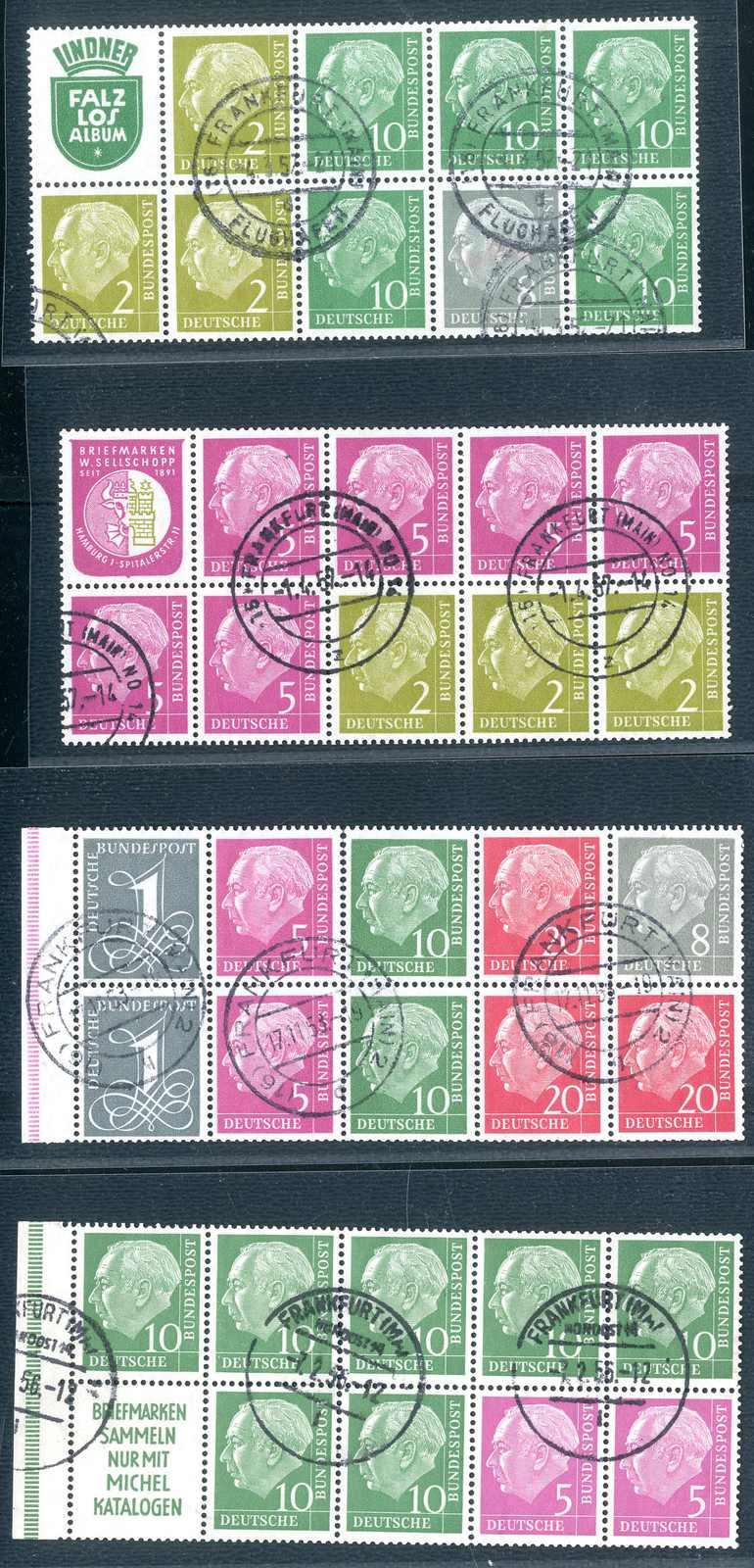 Lot 1060 - Bundesrepublik Deutschland, Markenheftchenblaetter  -  Karl Pfankuch & Co. auction #222