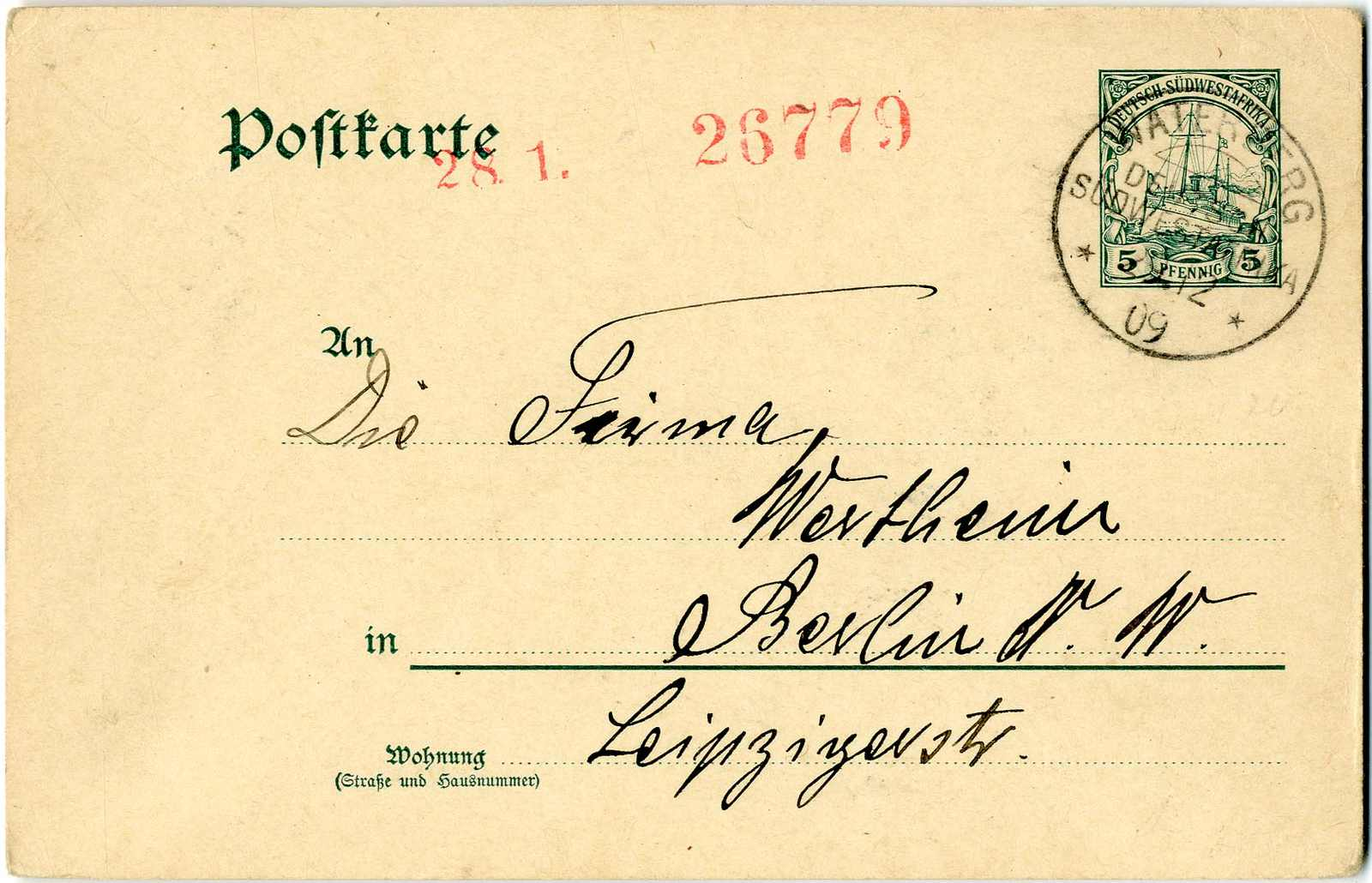 Lot 1454 - Deutsche Kolonien Südwestafrika, Stempel  -  Karl Pfankuch & Co. auction #222