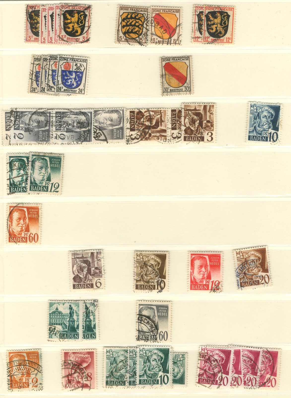 Lot 2682 - sammlungen und posten französische zone  -  Karl Pfankuch & Co. auction #222