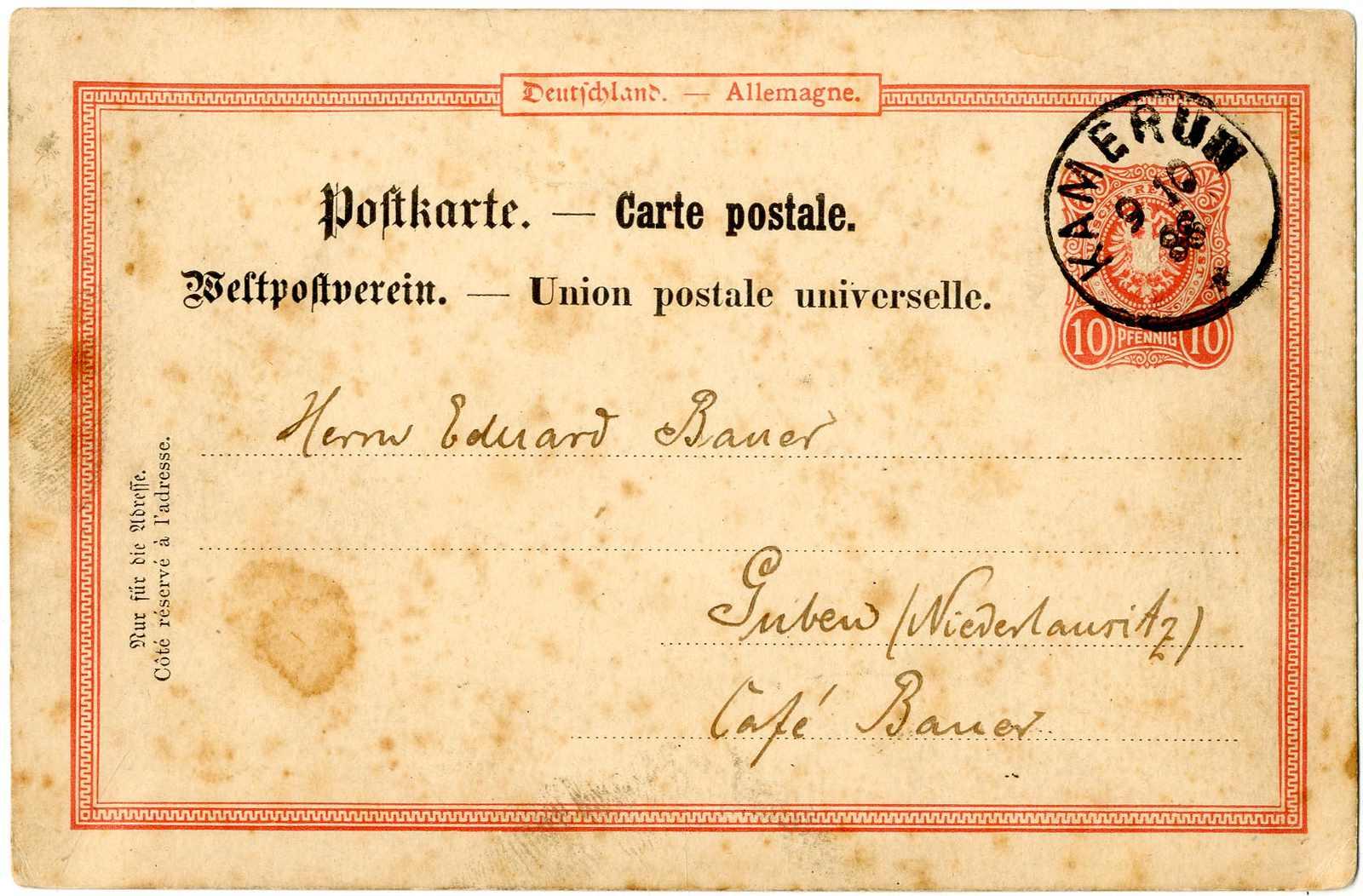 Lot 1460 - Deutsche Kolonien Kamerun, Vorläufer  -  Karl Pfankuch & Co. auction #222