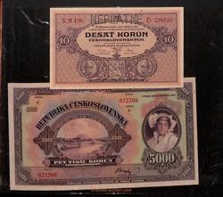 110.500: Banknoten - Tschechoslowakei
