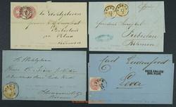 4745065: Austria 1863 Issue - Covers bulk lot