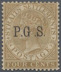 4300: Malaiische Staaten Perak - Portomarken