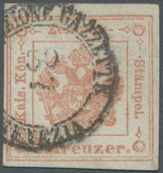 4775: Lombardy Venetia Newspaper Tax Stamps