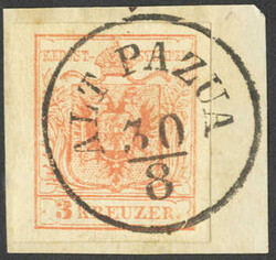 4745420: 奧大利郵戳Voivodeship of Serbia - Cancellations and seals