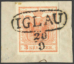 4745380: Austria Cancellations Moravia - Cancellations and seals