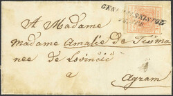4745385: Frontière militaire grèves Autriche - Cancellations and seals