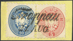 4745400: Austria Cancellations Silesia - Cancellations and seals