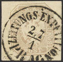 4745072: Austria Newspaper Stamp 1863