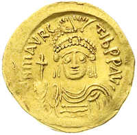 10.60.70: Ancient Coins - Byzantine Empire - Maurice Tiberius, 582 - 602