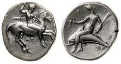 10.20.90.10: Ancient Coins - Greek Coins - Calabria - Tarentum