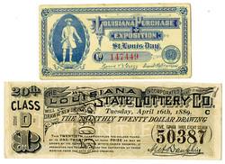 880.20: Papier, Ephemera - Lotterie Lose