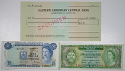 110.560.65: Banknotes – America - British Carribean Territorries