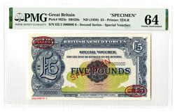 110.150.40: Banknoten - Großbritannien - Militär und Kriegsgefangenen Ausgaben