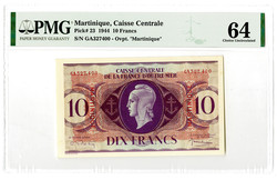 110.560.196: Banknotes – America - Martinique