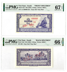 110.570.495: Banknotes – Asia - Vietnam South