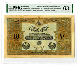 110.570.465: Banknotes - Asia – Turkey