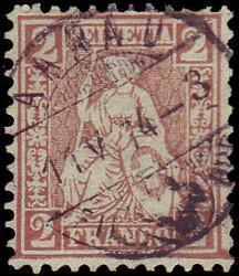5655146: Switzerland sitting Helvetia perforated