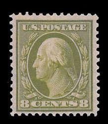 6605090: USA 1908-15 Washington-Franklin Ausgabe