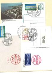 7690: Sammlungen und Posten Zeppelin und Luftpost - Stempel