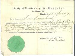 100: Altdeutschland Württemberg - Dokumente