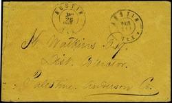 4029: Konföderierte Staaten Postmaster Ausgaben