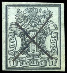 40: Altdeutschland Hannover - Stempel