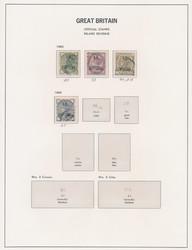7135: Sammlungen und Posten GB und Kanal Inseln - Dienstmarken
