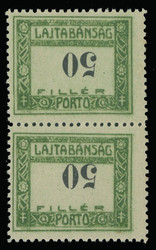 6725: Western Hungary - Postage due stamps