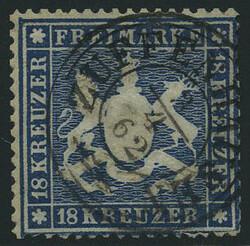 100: Altdeutschland Württemberg - Stempel