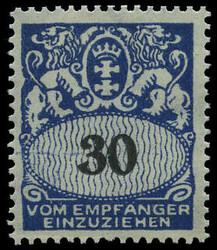 340: Danzig - Portomarken
