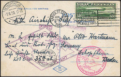 982522: Zeppelin, Zeppelinpost LZ 127, Südamerikafahrten 1930