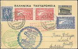 982548: Zeppelin, Zeppelinpost LZ 127, Italienfahrten