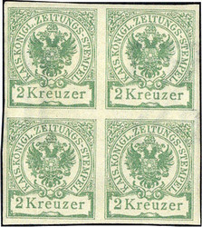 4760: Austria Newspaper Tax Stamps