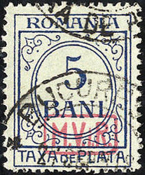 420: German Occupation World War I Romania - Postage due stamps