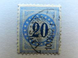 5655202: Postage Due 1882, 9. Printing, TYPE II, KZ. I (FASERPAPIER)