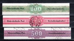 4755: Österreich Verrechnungsmarken - Verrechnungsmarken