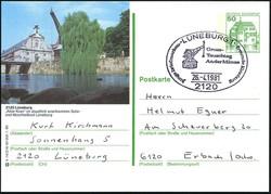 102120: Deutschland West, Plz Gebiet W-21, 212 Lüneburg - Ganzsachen