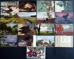 7090: Collections and Lots Baltic States - Picture postcards