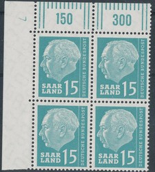 10350030: Saar 1957-1959 - Sheet margins / corners