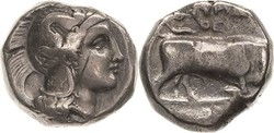 10.20.100.60: Ancient Coins - Greek Coins - Lucania - Thurium