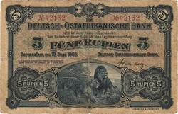 110.80.110.10: Banknoten - Deutschland - Kolonien - Deutsch-Ostafrika