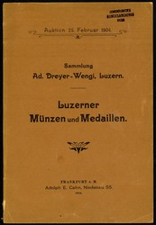 130.100: Numismatische Literatur - Auktionskataloge