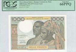 110.550.110: Banknoten - Afrika - Elfenbeinküste