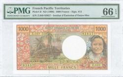 110.580.45: Banknoten - Ozeanien - Französische Pazifik Gebiete