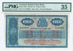 110.150.50: Banknotes - Great Britain - Scotland